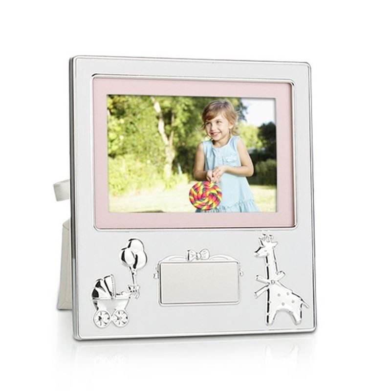Whitehill – Silver Plated Baby Frame with Engraving Plaque 10x15cm