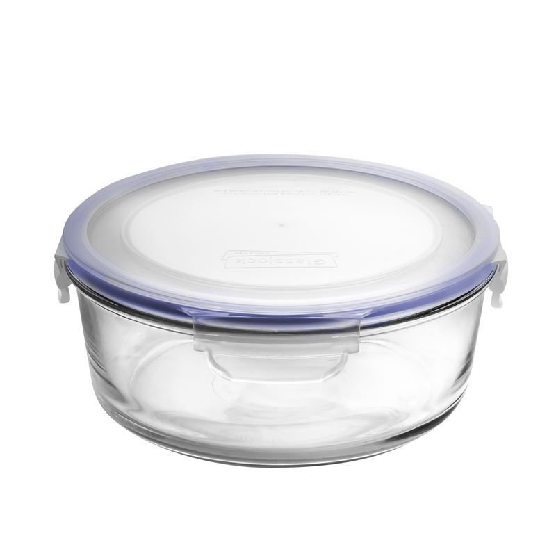 Glasslock – Round Tempered Glass Food Container 2Ltr