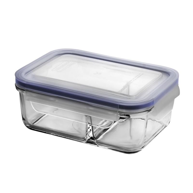 Glasslock – Dual Compartment Tempered Glass Food Container 670ml