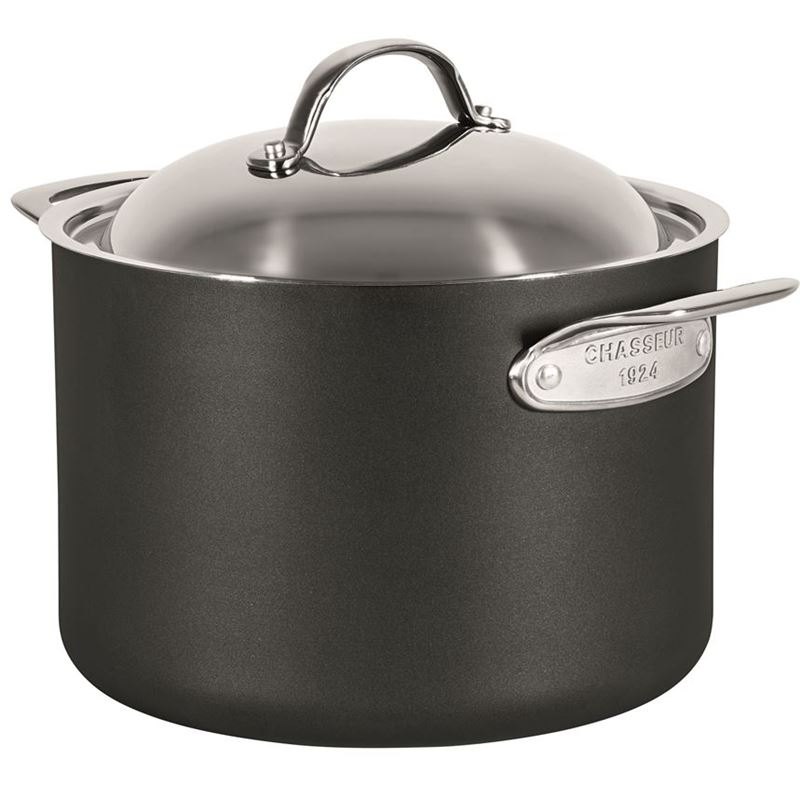 Chasseur – Cinq Etoiles Hard Anodised Non-Stick 24cm Stock Pot with Lid 7Ltr