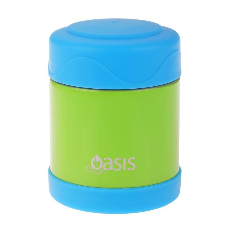 Oasis – Stainless Steel Food Flask 300ml Green/Blue