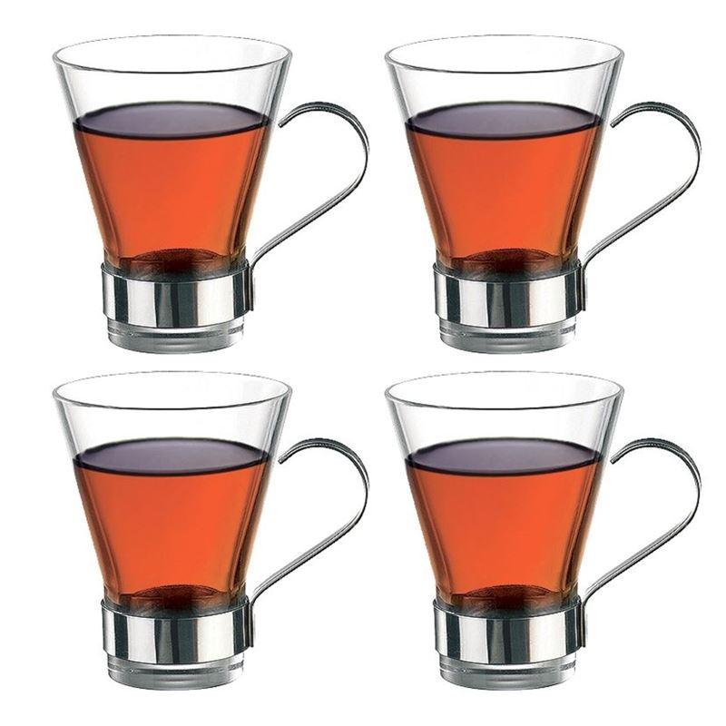 Bormioli Rocco – Ypsilon Glass Tea 320ml SET OF FOUR  (Made in Spain)