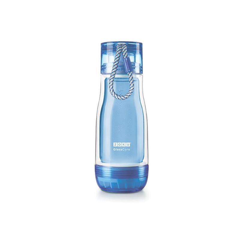 Zoku – Everyday Glass Core Bottle 355ml Blue