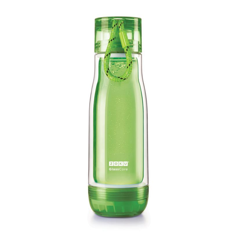 Zoku – Everyday Glass Core Bottle 475ml Green