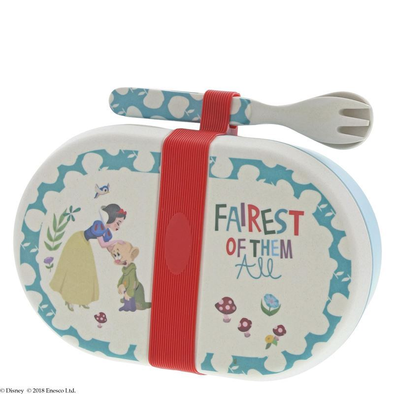 Disney – Snow White Organic Bamboo Snack Box with Cutlery