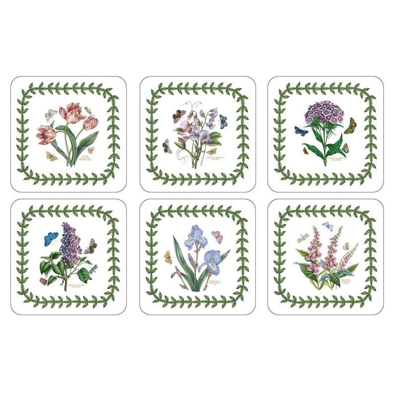 Pimpernel – Portmeirion Botanic Garden Set of 6 Cork Backed Coasters 10.5×10.5cm