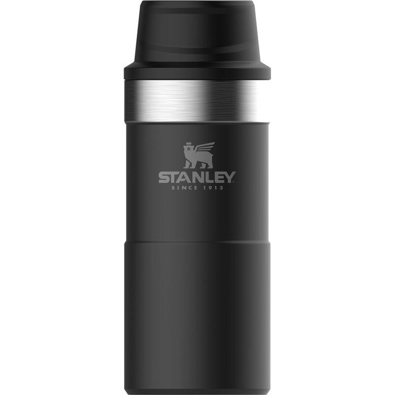Stanley – Matte Black Trigger Action Double Wall Vacuum Insulated Travel 350ml Mug