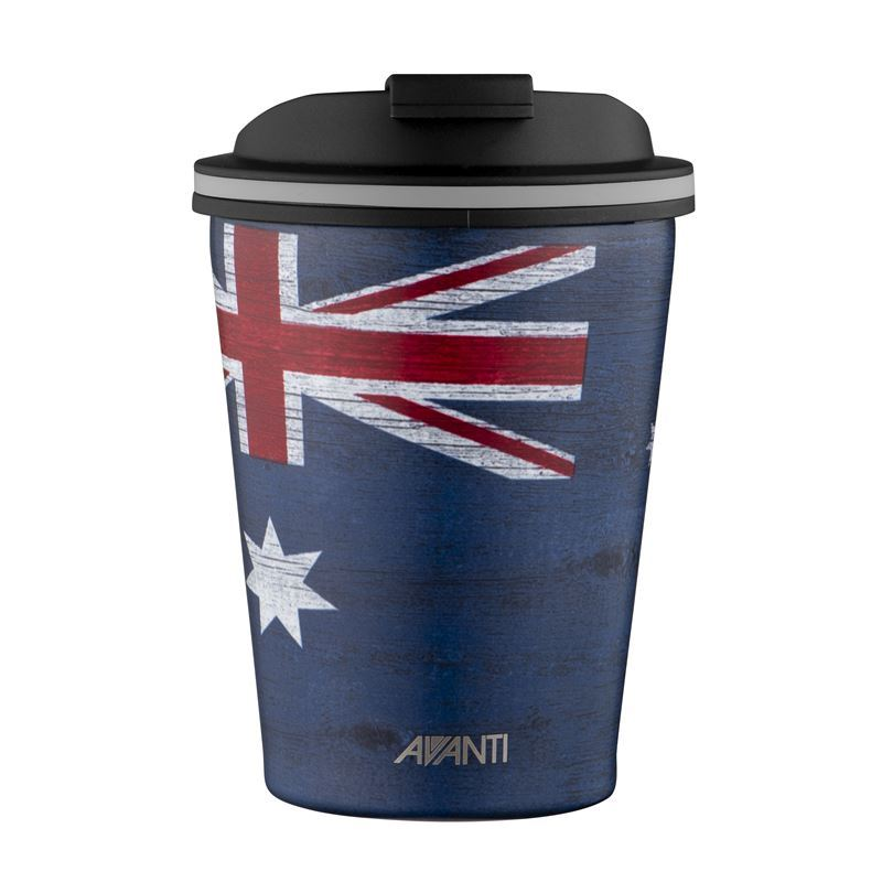 Avanti – GOCUP Double Wall Stainless Steel Coffee Cup 280ml Aussie Flag