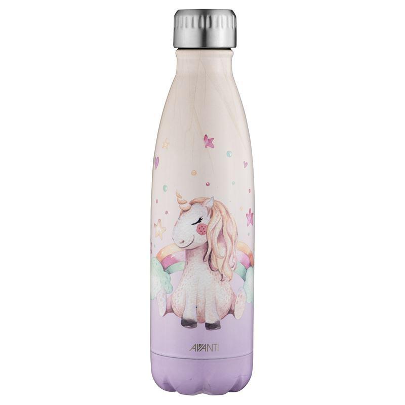 Avanti – Fluid Vacuum Stainless Steel Bottle 500ml Unicorn Dreaming