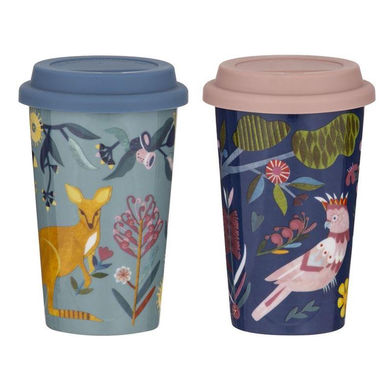 Australiana – Double Wall 300ml Reusable Mug Asst.