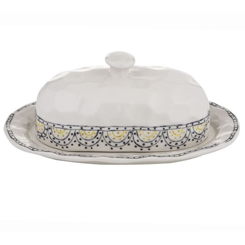 Amalfi – Ethnique Covered Butter Dish 27×12.5x11cm