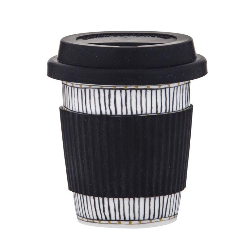 Amalfi – Ethnique Re-Usable Coffee Mug with Silicone Lid 300ml