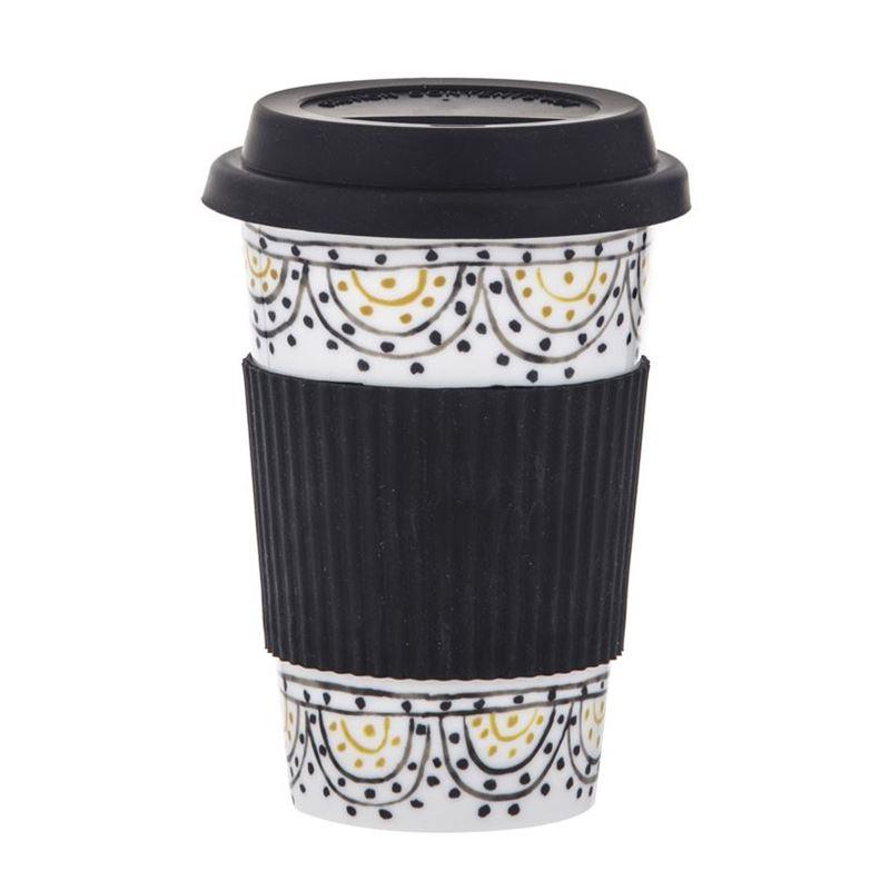 Amalfi – Ethnique Re-Usable Coffee Mug with Silicone Lid 400ml