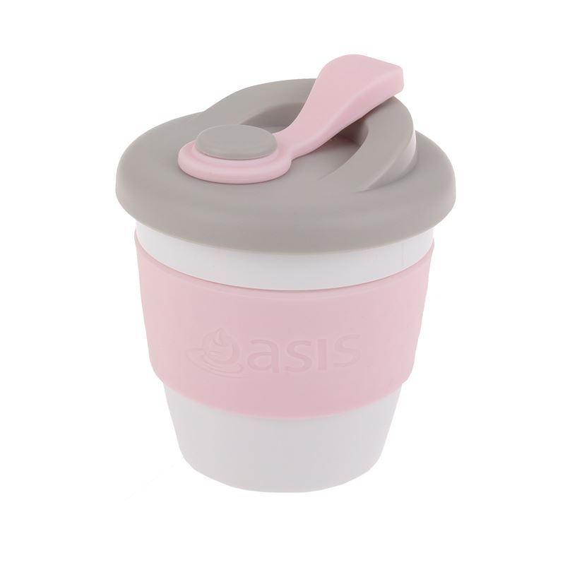 Oasis – Biodegradable Eco Reusable Coffee Cup 227ml Pink