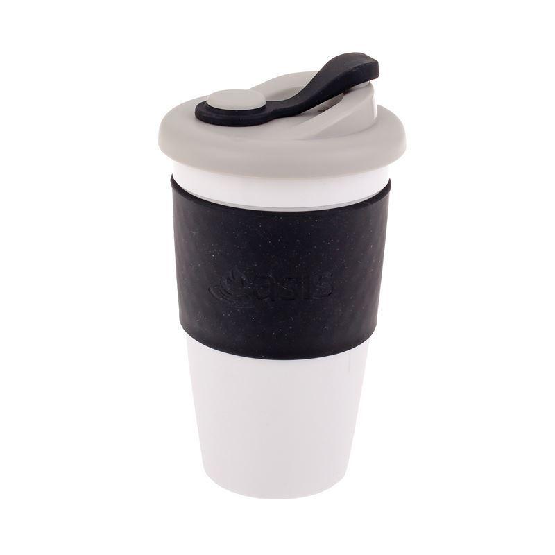 Oasis – Biodegradable Eco Reusable Coffee Cup 454ml Black