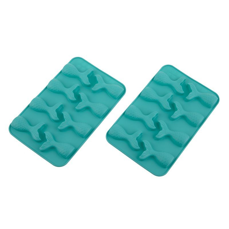 Daily Bake – Silicone Mermaid 8 Cup Chocolate Mould Set of 2