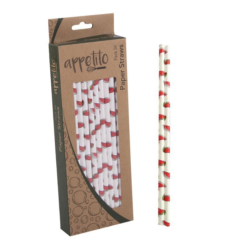 Appetito – Paper Straws Pack of 50 Watermelon
