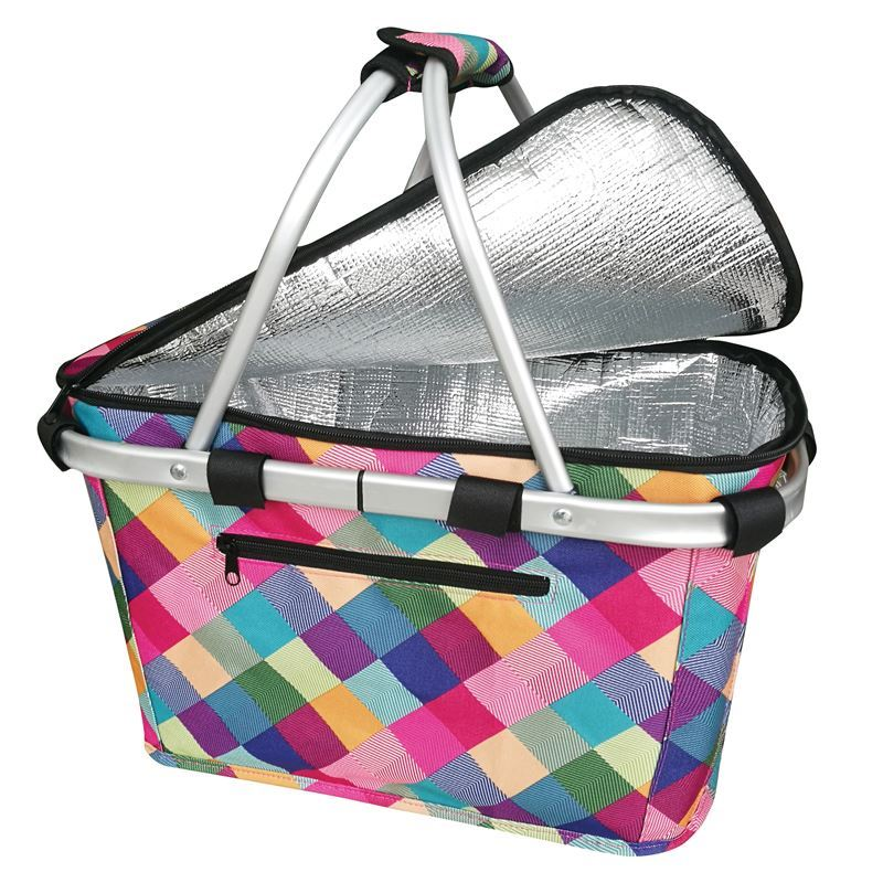 Sachi – Insulated Carry Basket with Lid Harlequin
