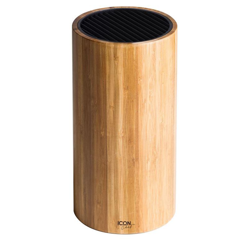 IconChef – Universal Knife Block Round Bamboo