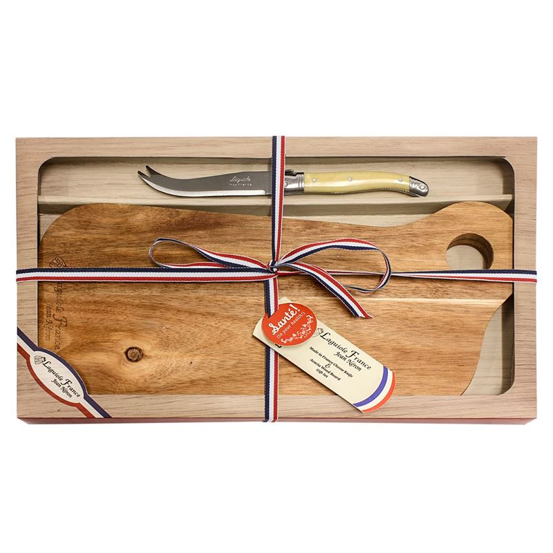 Laguiole Jean Neron – Cheese Knife and Serving Board Gift Boxed Set Rectangular