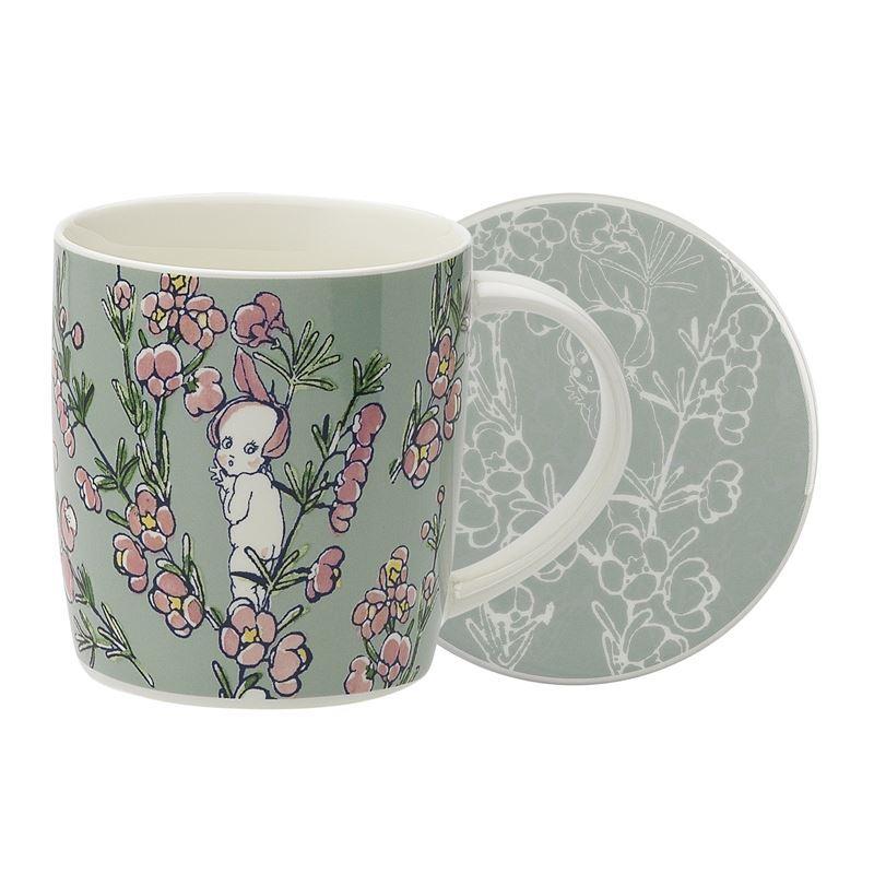 May Gibbs by Ecology – Bone China Flower Babies Light Green 320ml Mug and Coaster