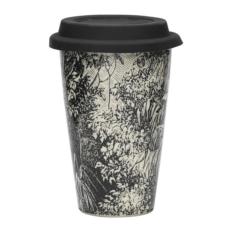 Ecology – Expedition Double Wall Re-Usable 240ml Coffee Mug with Silicone Lid Safari
