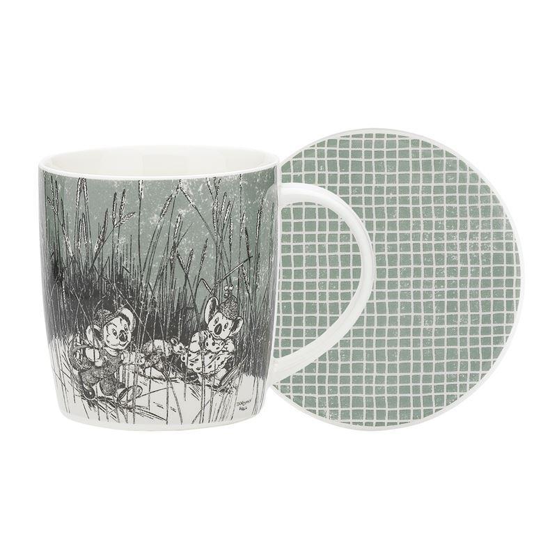Blinky Bill by Ecology – Bone China 320ml Mug with Coaster Sage Green