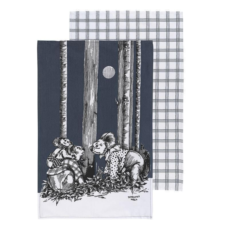 Blinky Bill by Ecology – 100% Cotton Tea Towel Set of 2 Ink