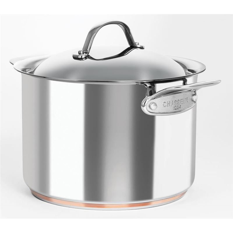 Chasseur – Le Cuivre 24cm 7.6Ltr Stainless Steel Copper Based Stock Pot with Lid