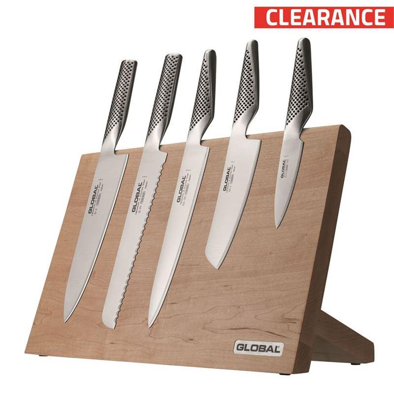 Global – Takumi Maple6 piece Professional Knife Block Set (Made in Japan)
