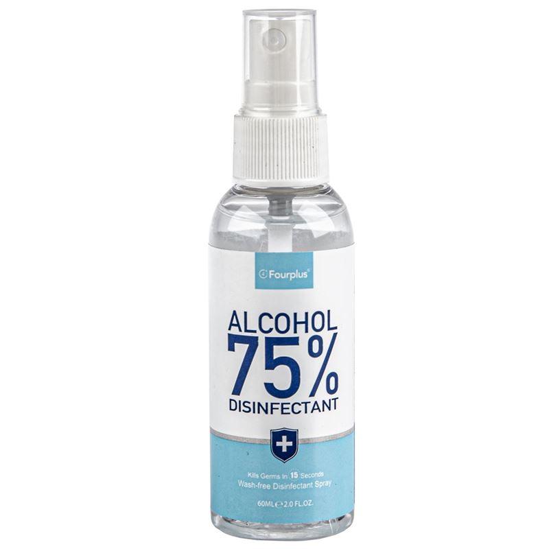 Fourplus – 60ml Pocket Bottle 75% Alcohol Disinfectant Spray