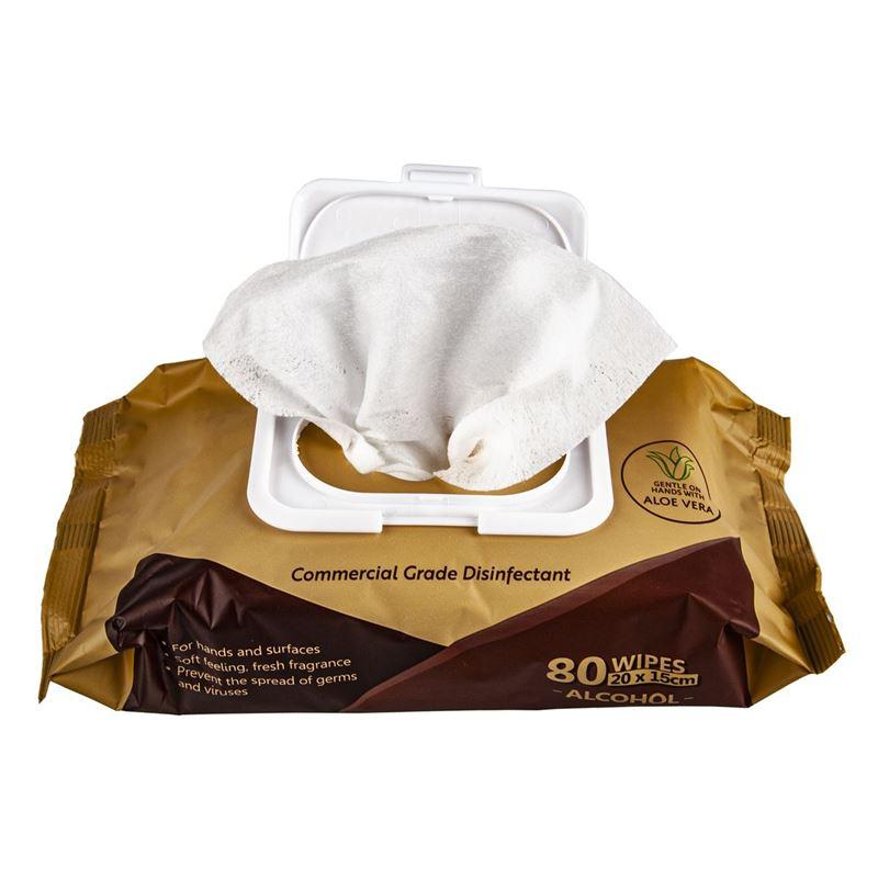 Eco Basics by White Magic – Antibacterial Sanitiser Wipes 80 Pack