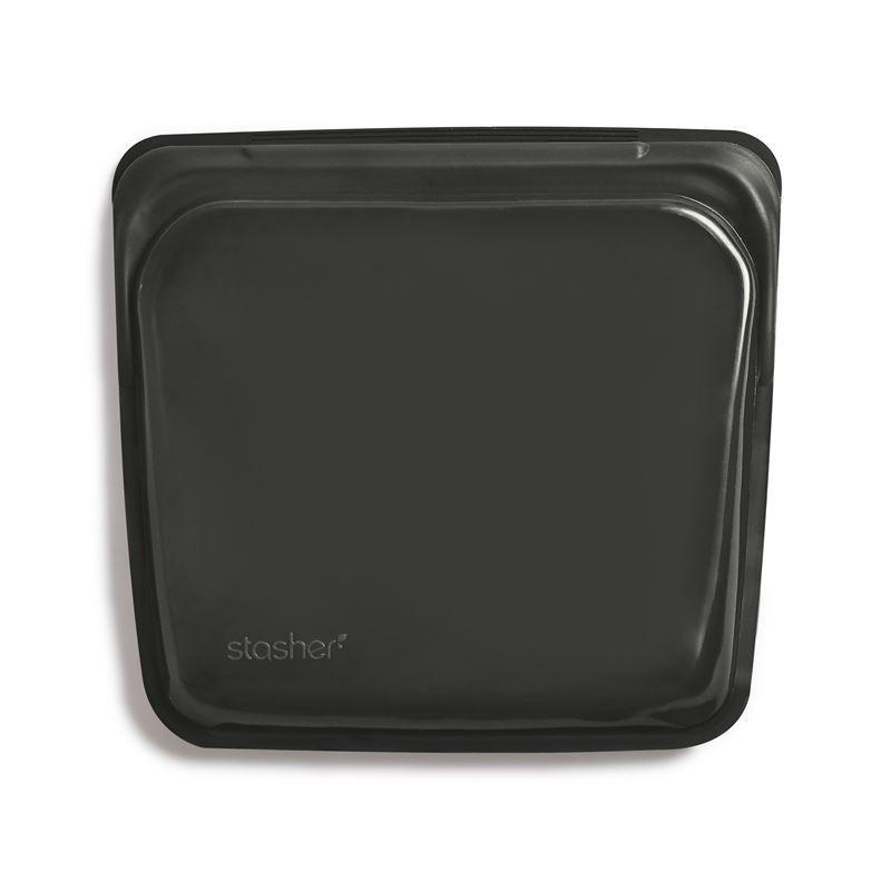 Stasher – Sandwich Bag 450ml Obsidian Black