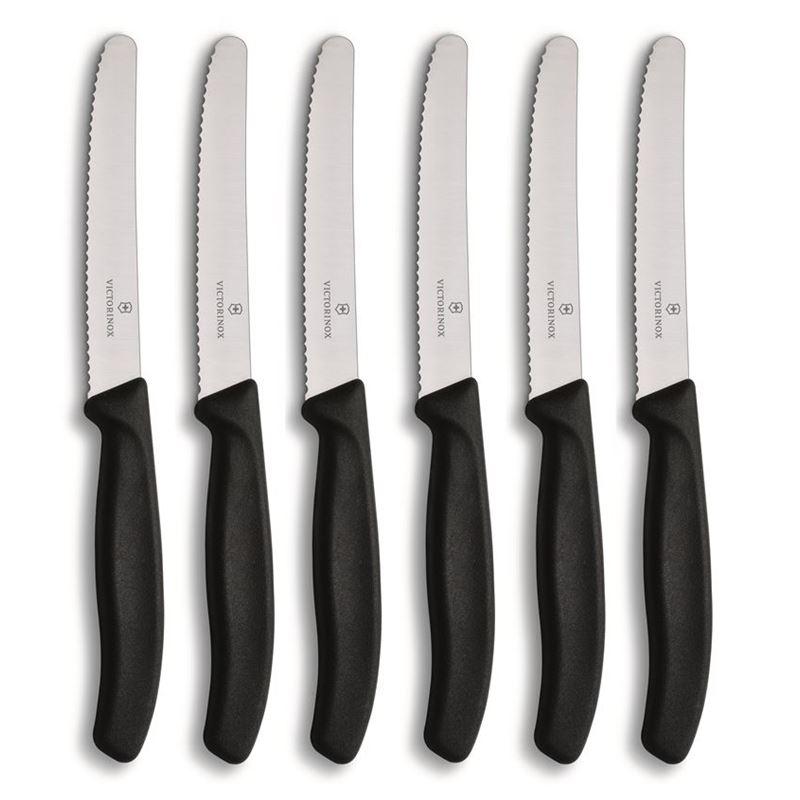 Victorinox – Multi-Purpose Knife Black 11cm Set of 6 (Made in Switzerland)