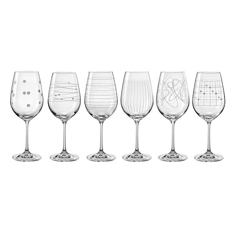 Bohemia – Elements Wine Glass 450ml Set of 6 (Made in the Czech Republic)