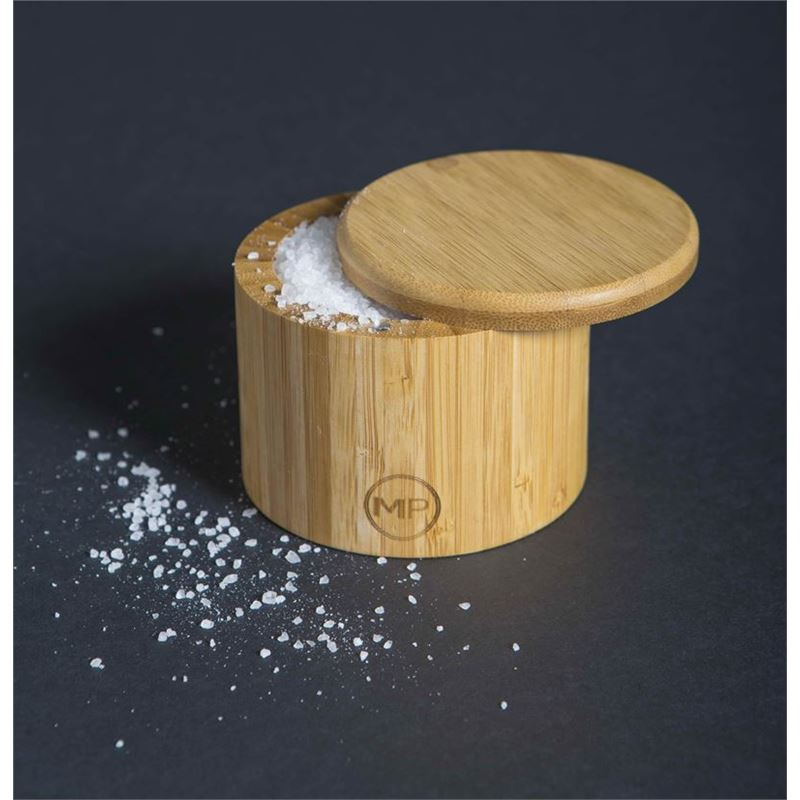 Masterpro – Bamboo Round Salt Box 9x7cm