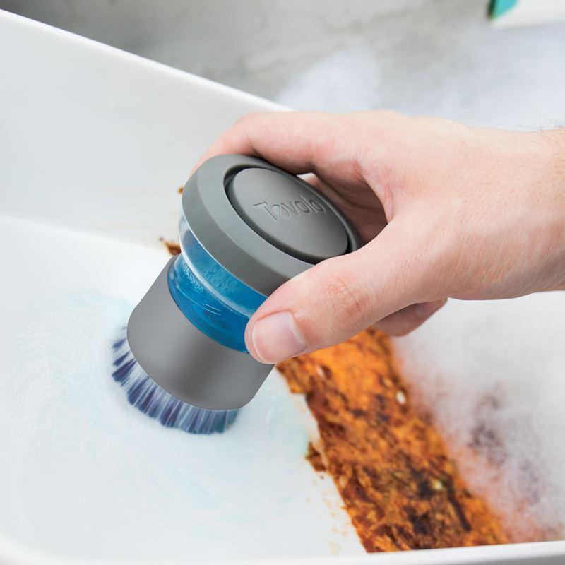 Tovolo – Twist n Scrub Soap Dispensing Palm Brush