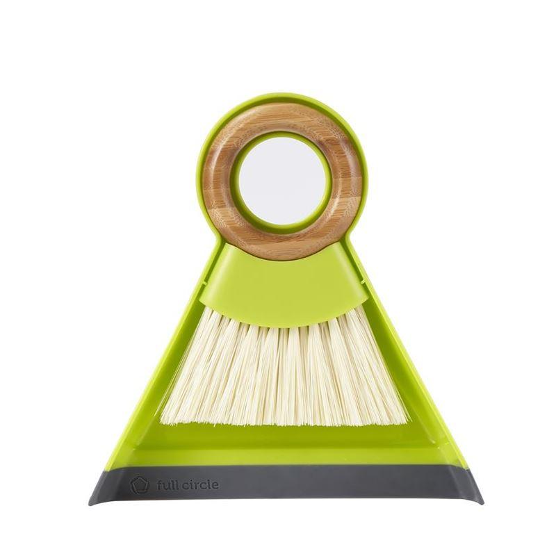 Full Circle – Tiny Team Mini Dustpan and Brush Set Green