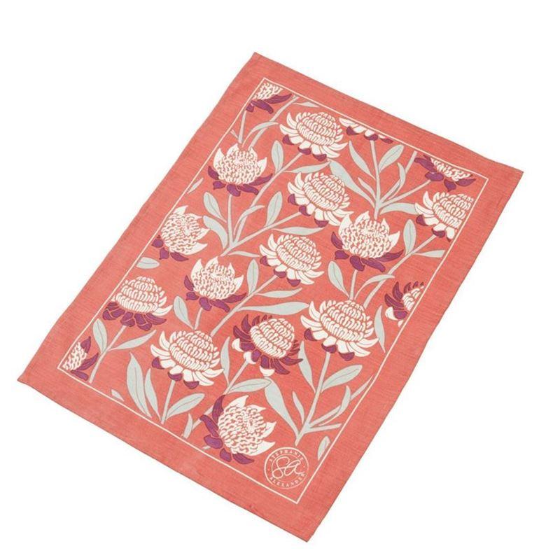 Stephanie Alexander – Waratah Cotton & Linen 52x72cm Tea Towel