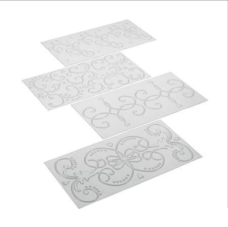 Cake Boss – Acrylic Fondant Imprint Mat Scroll Set of 4