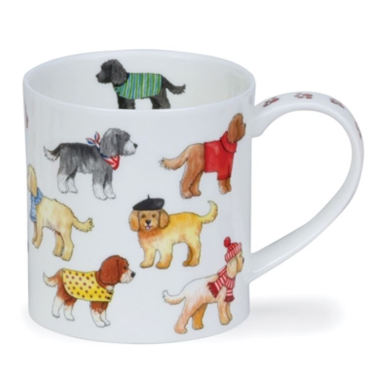 Dunoon – Orkney Bone China Mug 350ml Dashing Dogs Cockapoo (Made in England)