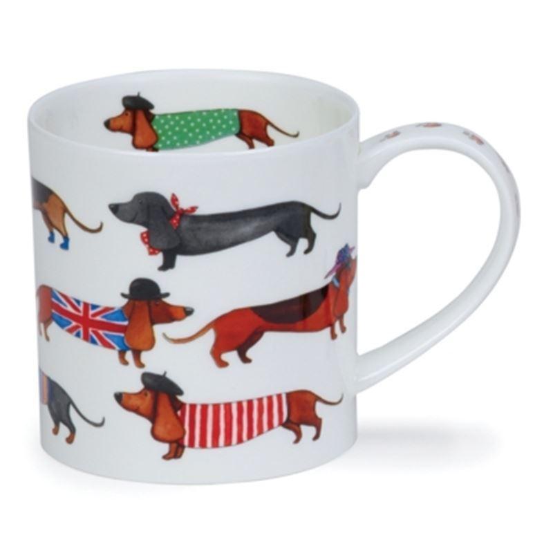 Dunoon – Orkney Bone China Mug 350ml Dashing Dogs Sausage (Made in England)
