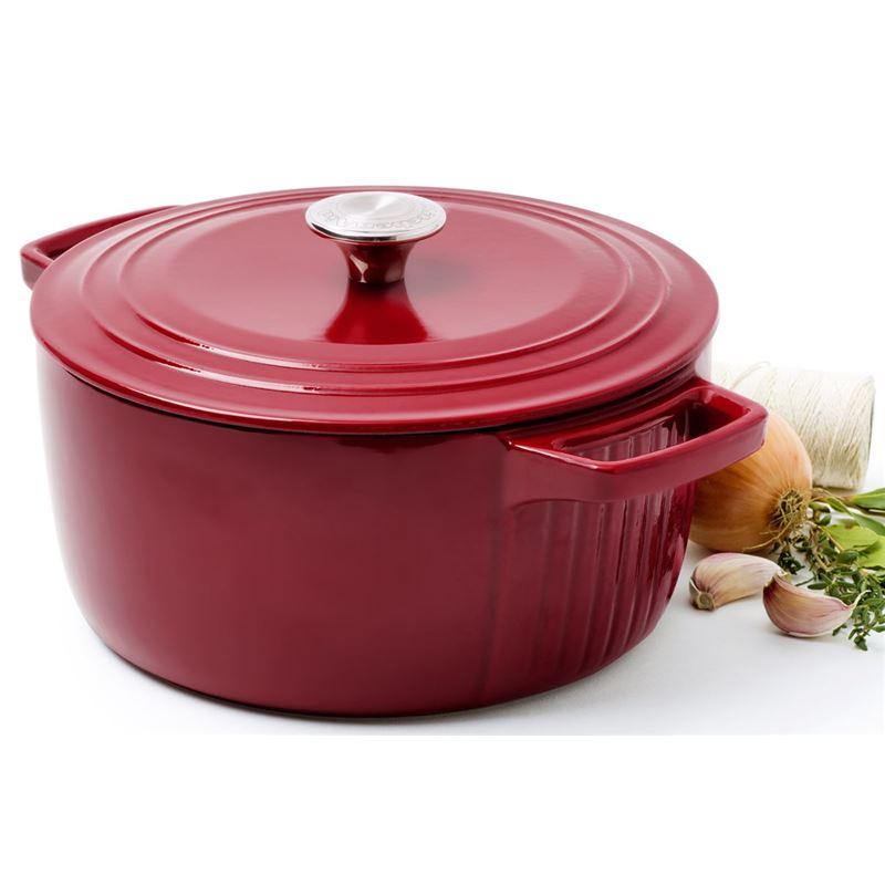KitchenAid – Cast Iron 26cm Casserole Red 5.67Ltr