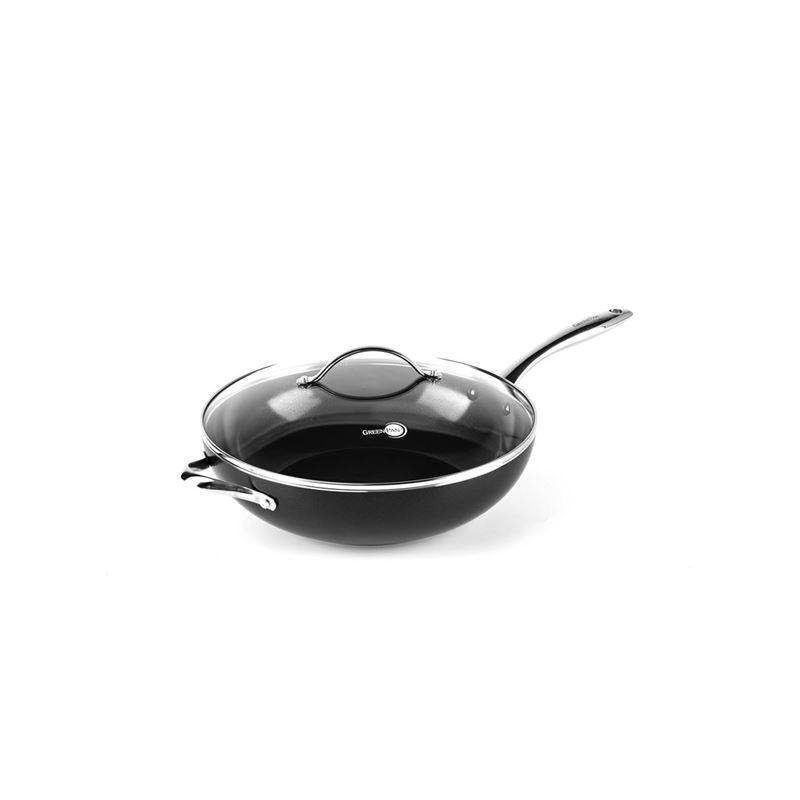 Greenpan – Heritage Thermolon Ceramic Non-Stick Covered Wok 32cm 5.43Ltr