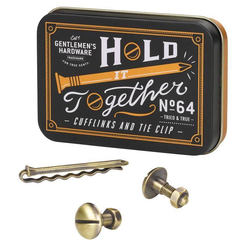 Gentleman's Hardware – Cufflinks & Tie Clip Set