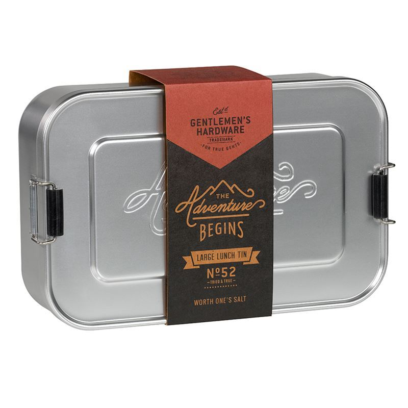 Gentleman's Hardware – Aluminium Lunch Tin Large Silver