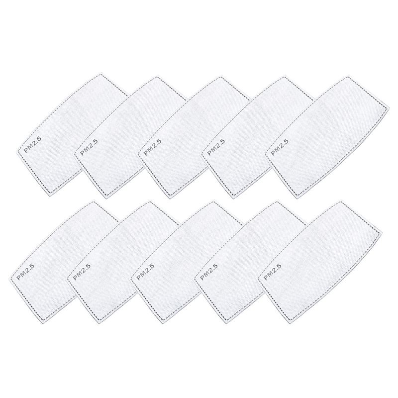 Pack of 10 Face Mask Filters PM2.5 Activated Carbon 5 Layer Protection – Non-Medical