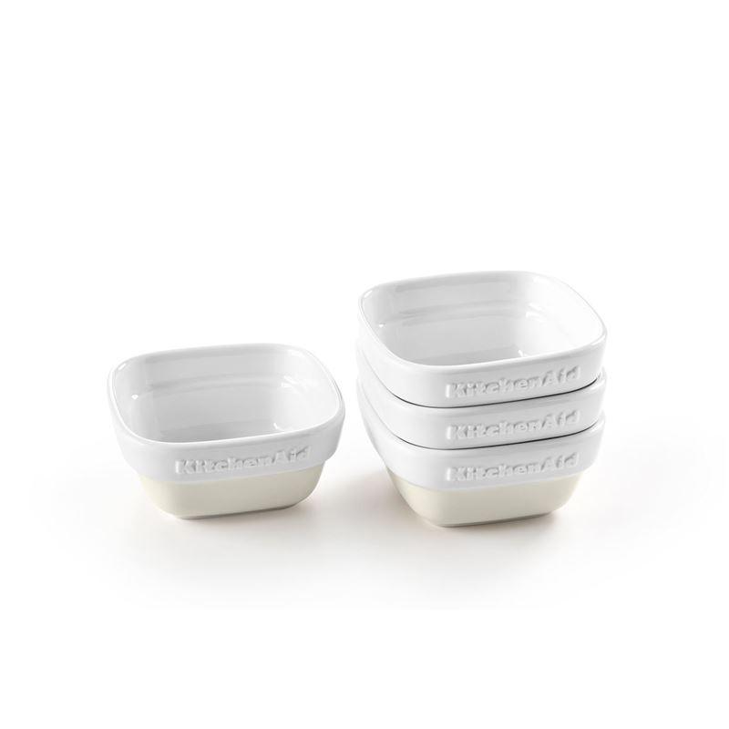 KitchenAid – Almond Cream Premium Porcelain Set of 4 Ramekins Gift Boxed
