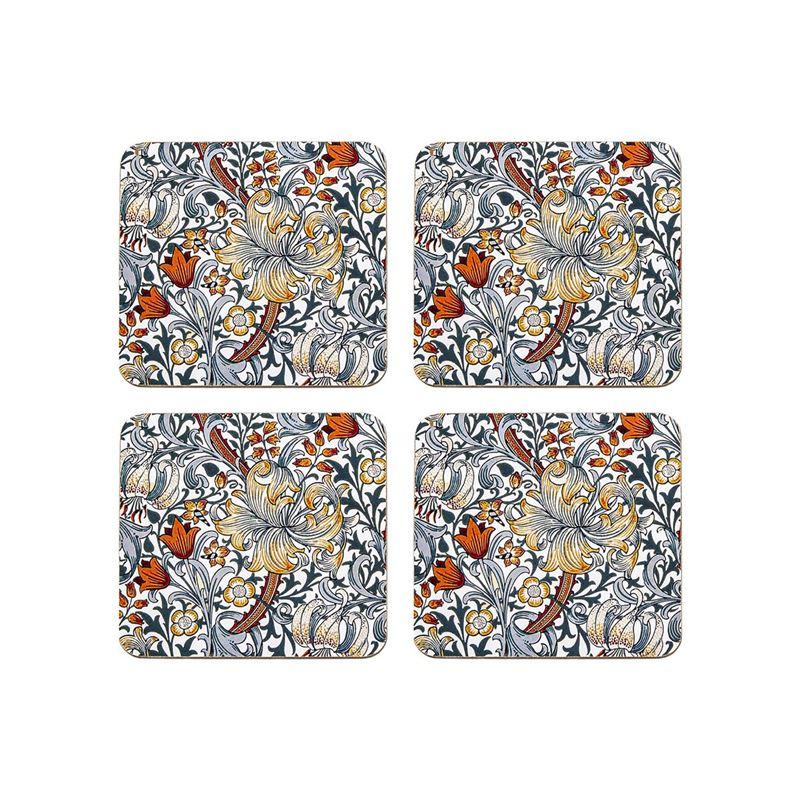 Nostalgic – Blue Lily Coasters 10.5×10.5cm Set of 4