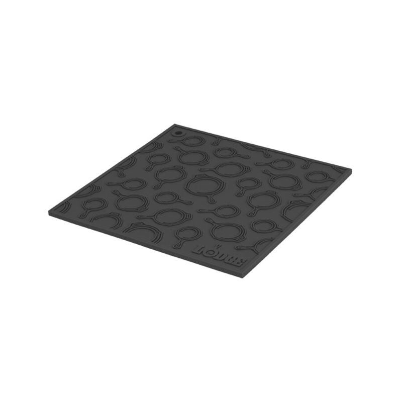 Lodge – Black Square Silicone Skillet Pattern Trivet 17.78cm Square